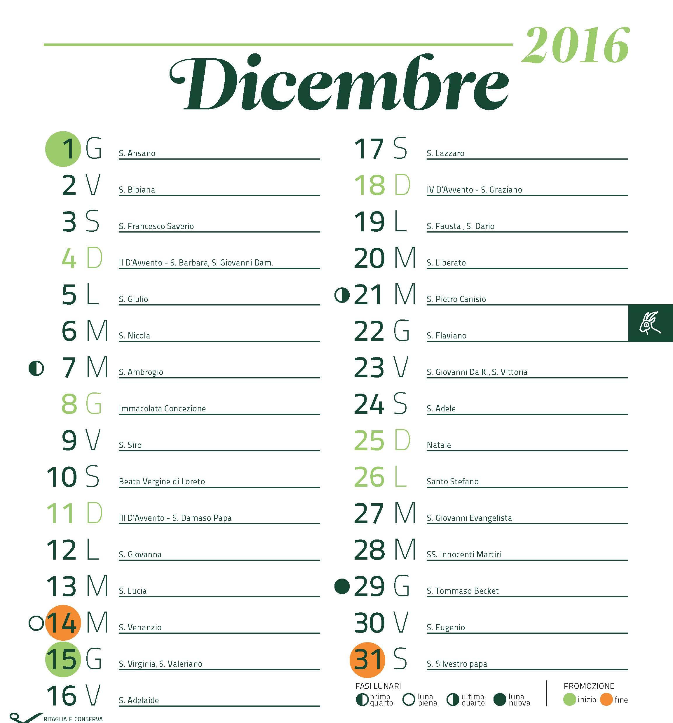 Calendario Attuale.Tuodi Calendario